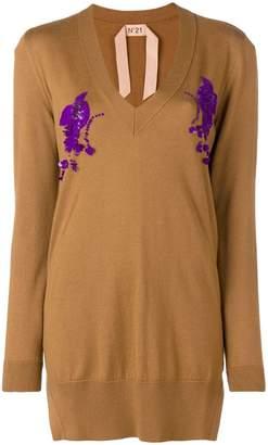 No.21 oversized embellished sweater