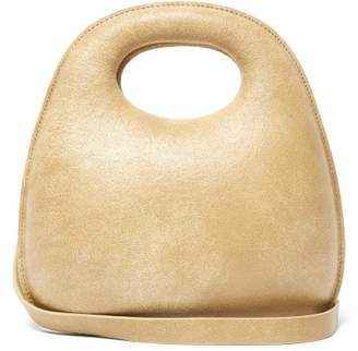 Lemaire Egg Cracked Leather Bag - Womens - Brown