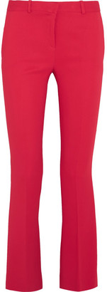 Versace - Stretch-crepe Flared Pants - Tomato red $775 thestylecure.com