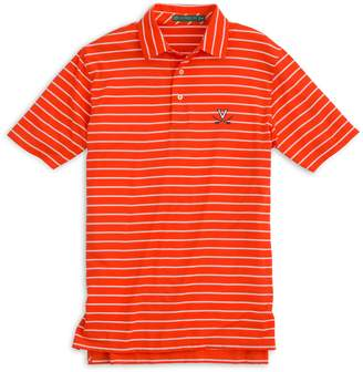 Southern Tide UVA Cavaliers Striped Polo Shirt