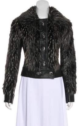 Rachel Zoe Faux Fur-Accented Leather Jacket