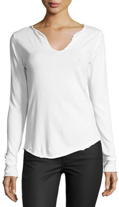 Zadig & Voltaire Tunisien Strass Skull Long-Sleeve Tee, White $128 thestylecure.com