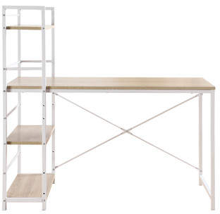 Madison Home USA Teresa Computer Desk with Attached Shelving