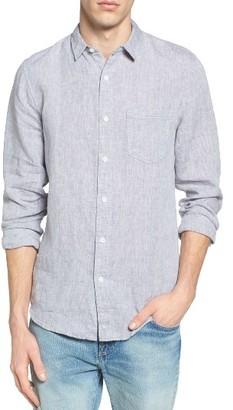 Men's 1901 'Rivers' Trim Fit Woven Linen Shirt $59.50 thestylecure.com
