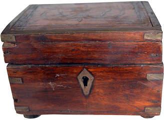 One Kings Lane Vintage Antique Indian Perfume Box & Bottles - FEA Home