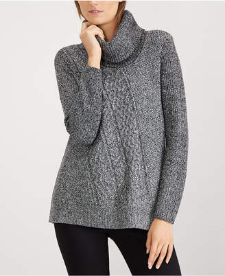 Calvin Klein Cable-Knit Cowl-Neck Sweater