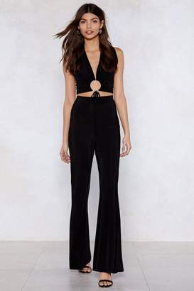 Nasty Gal Ring Ring Crop Top and Flare Set