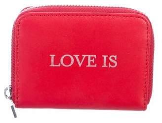 Zadig & Voltaire Leather Zip Wallet
