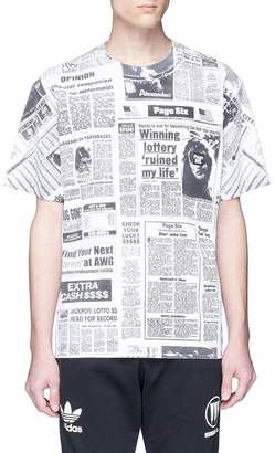 Alexander Wang x Page Six 'Newspaper' print T-shirt