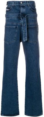 Diesel Red Tag reversed wide leg jeans