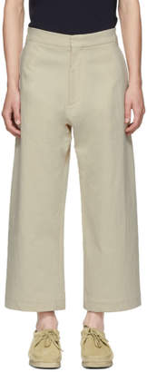 Studio Nicholson Beige Suedehead Trousers