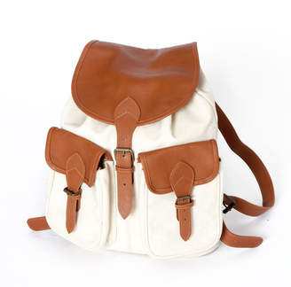 New Market Goods Natural Canvas Field Backpack