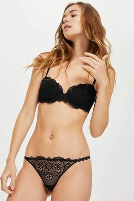 Topshop Womens Pretty Lace Thong