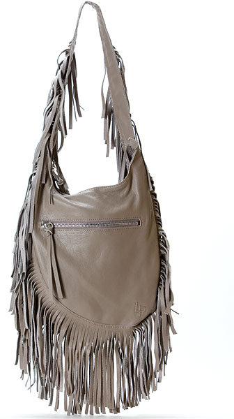 Linea Pelle Janis Shoulder Bag in Grey