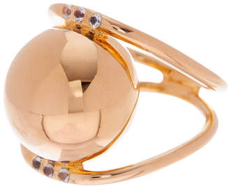 Elizabeth and James Knox Pave White Topaz Ring