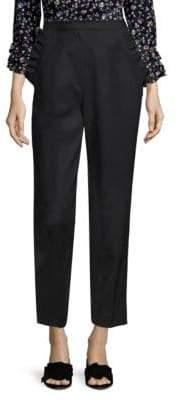 Rebecca Taylor Ruffle Pocket Tapered Pants