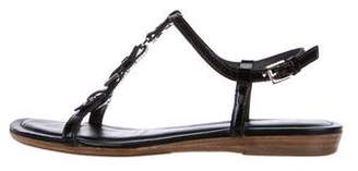 Tod's Patent Leather Buckle Sandals