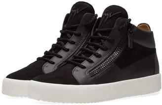Giuseppe Zanotti Tassel Lace Double Zip Mid Sneaker