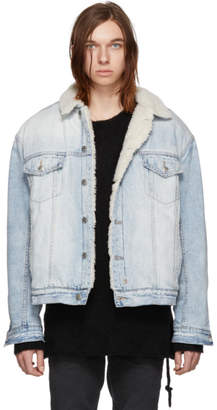 Ksubi Blue Denim OH G Borg Chillz Jacket