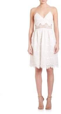 Jonathan Simkhai Scallop Tower Lace Dress