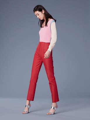 Diane von Furstenberg Mid-Rise Skinny Denim Pants