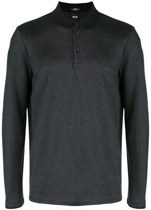 HUGO BOSS long-sleeve polo top