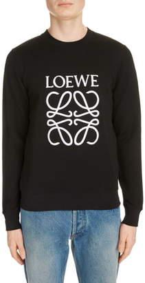 Loewe Embroidered Anagram Logo Sweatshirt