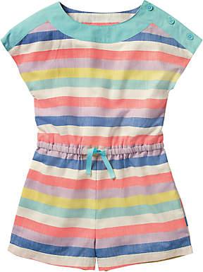Boden Mini Girls' Stripe Woven Playsuit, Pink