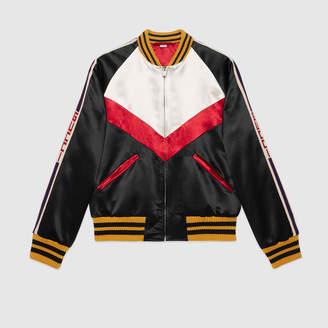 Gucci Chevron acetate bomber jacket