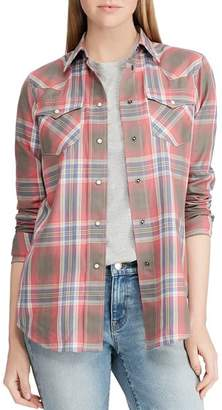 Ralph Lauren Western-Style Plaid Shirt