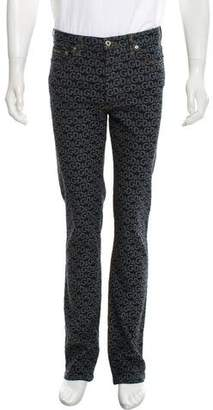 Dolce & Gabbana Five Pocket Logo Slim Jeans