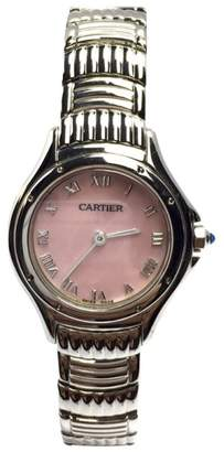 Cartier Stainless Steel Pink Mother Of Pearl Dial 27.50mm Womens Watch