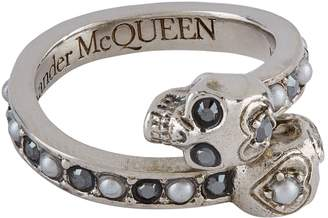 Alexander McQueen Jewel Twin Skull Ring