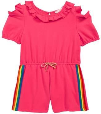 Truly Me Rainbow Tape Romper (Toddler Girls & Little Girls)