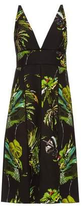 Tropical-print cut-out dress Proenza Schouler QubFGn