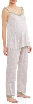 Nanette Lepore Nanette Maternity Sleepwear Maternity Nursing Top and Pants Sleep Set