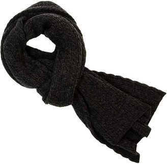 8973ed66a 40 Colori Charcoal Small Braided Wool & Cashmere Scarf
