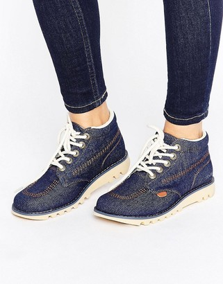 Kickers Hi Side Denim Boot $79 thestylecure.com