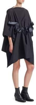 Junya Watanabe Taffeta Front Ruffle Hooded Dress