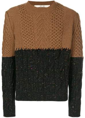 Damir Doma two-tone oversized sweater