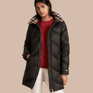 Burberry Chevron-quilted Down-filled Coat $995 thestylecure.com