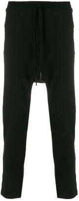 11 By Boris Bidjan Saberi printed back drop-crotch trousers