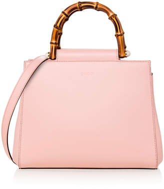 Gucci Nymphaea Leather Top Handle Bag