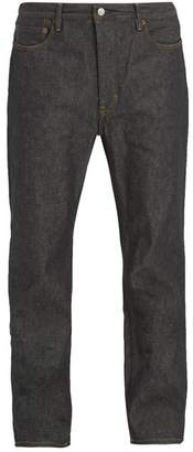 Acne Studios Land Mid Rise Slim Leg Jeans - Mens - Black
