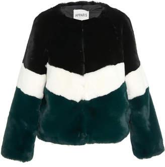 BRIGITTE Apparis Color-Blocked Faux Fur Jacket