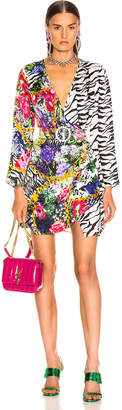 Rixo Abba Dress in Mixed Floral Mono Tiger | FWRD