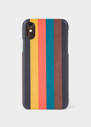 Paul Smith 'Bright Stripe' Leather iPhone X Case