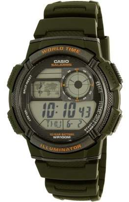 Casio Men's World Time Watch, Green, AE1000W-3AVCF