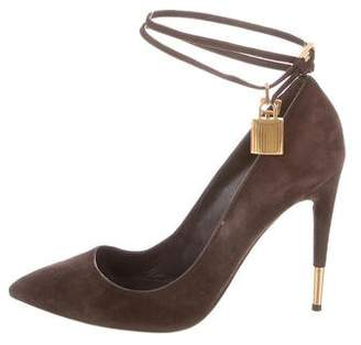 Tom Ford Suede Padlock Pumps
