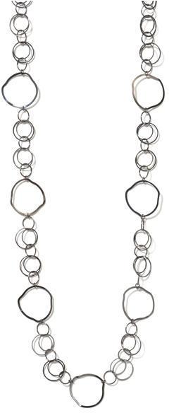Express Long Circle-Link Necklace